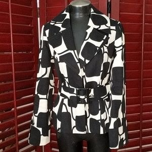 Gorgeous INC Black and White Belted Jacket